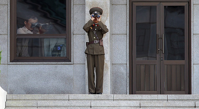 Near by North Korean Soliders